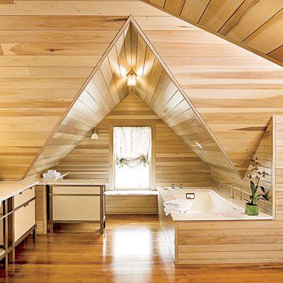 Bamboo and natural wood bathroom flooring