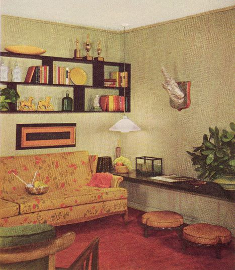 Sherwin-Williams  Home Decorator Booklet  1961 Edition - Ummm... Yes to the unicorn head on the wall.