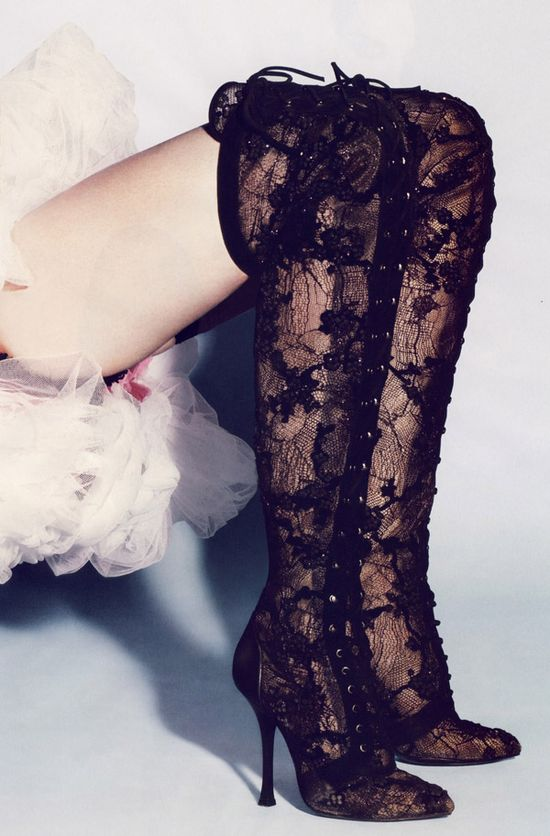 beautiful lace boots