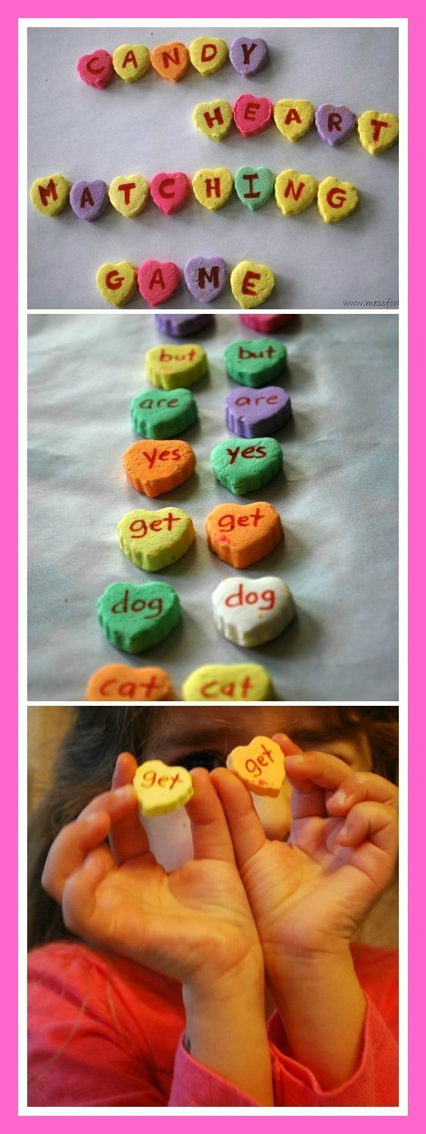 Conversation Candy Hearts Sight Word Matching Game, #Valentines, #kids