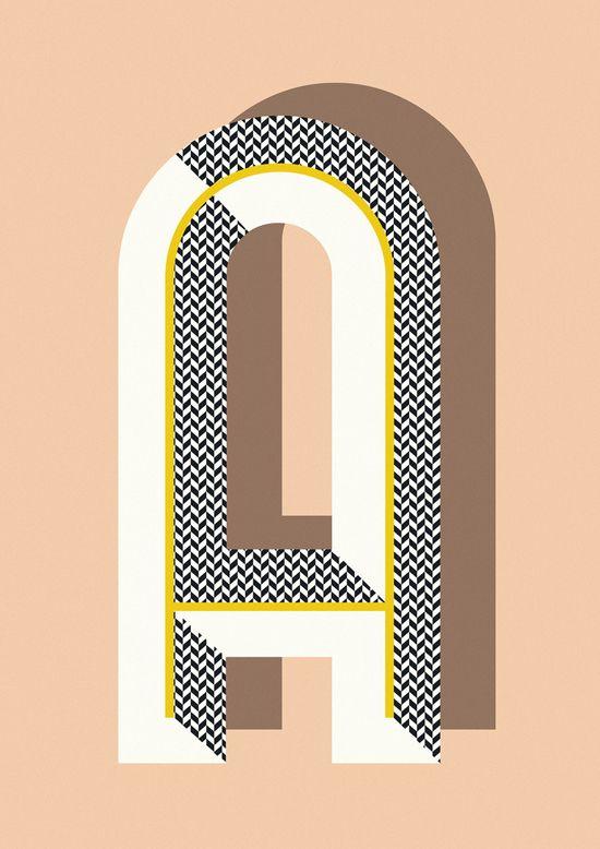 A- Bau Deco letter posters by Ferm Living