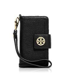 Tory Burch Amanda Smart Phone Wallet in Black