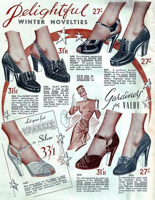 Let your feet sparkle! #vintage #1940s #shoes #ads