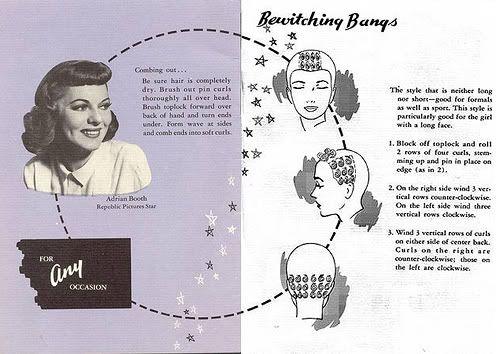 Bewitching 1940s bangs. #vintage #hair #curl_sets #1940s