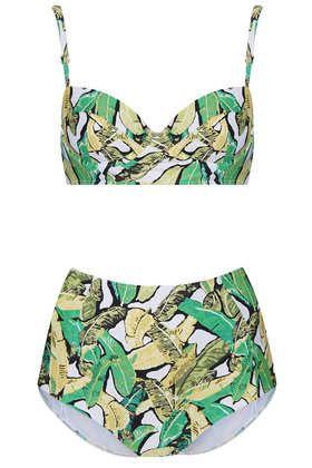 Green Leaf Longline Bikini