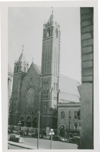 Saint Raphael Church, Springfield, Ohio. My best friend, Cynthia, and her family went to Saint Raphael's. One of my best memories was going with them to the Christmas Eve midnight candlelight mass.