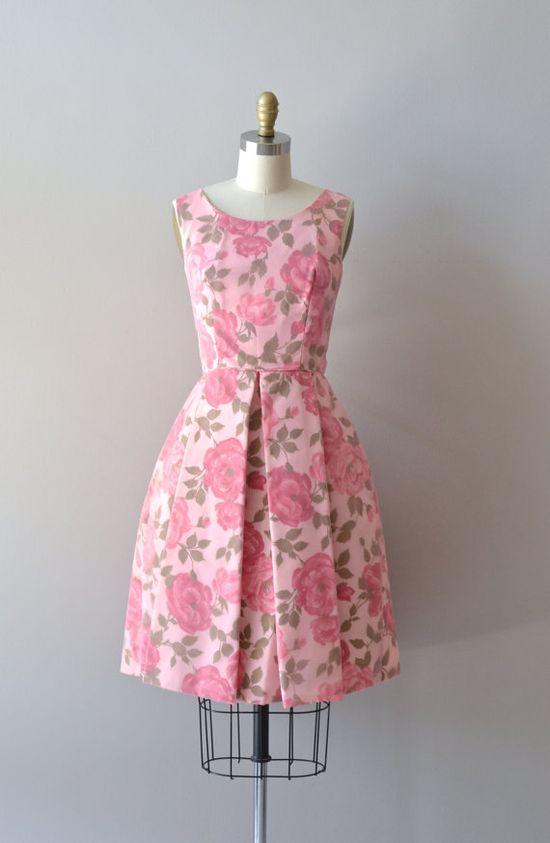 vintage 1960s dress #fashion #floral #dress  #partydress #vintage #frock #retro #sundress #floralprint #petticoat #romantic #feminine