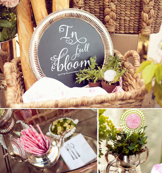 """In Full Bloom"" – A French Bistro Inspired Baby Shower"