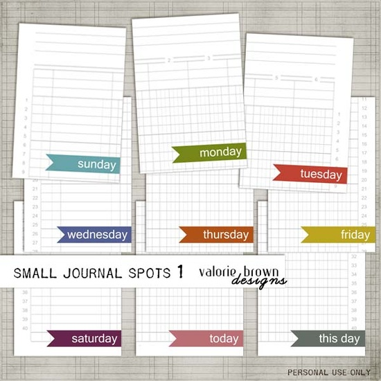 free 3x4 journal cards for project life