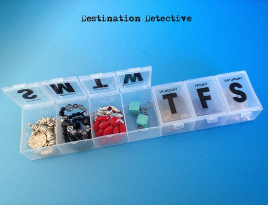To keep #jewelry from being misplaced or tangled during #travel, pack it in a pill dispenser! #traveltip