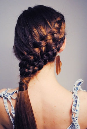 a really cool ponytail