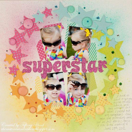 """Superstar"" Layout #scrapbook #layout #scrapbooking"