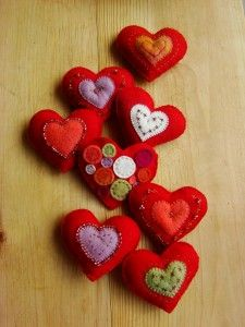 Wool Felt Hearts