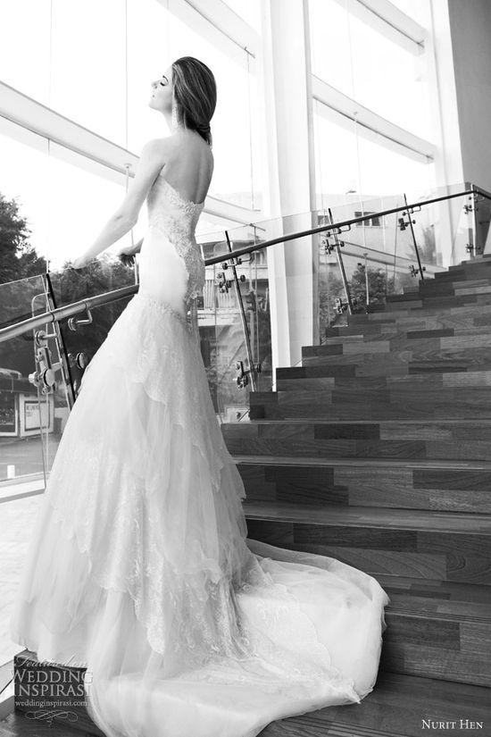 nurit hen wedding dresses 2013 strapless gown