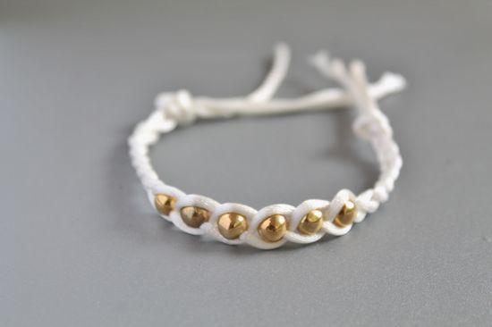 DIY beaded & braided bracelet