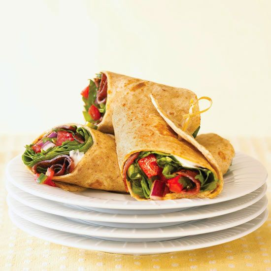 This Bacon, Lettuce, and Tomato Salsa Wrap has fewer calories than you think! More low-calorie dinner recipes: www.bhg.com/...