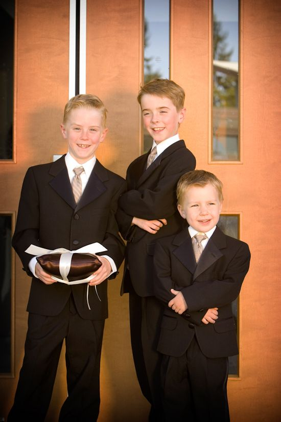 ring bearers group photo-real wedding photo by Seattle photographer J. Garner