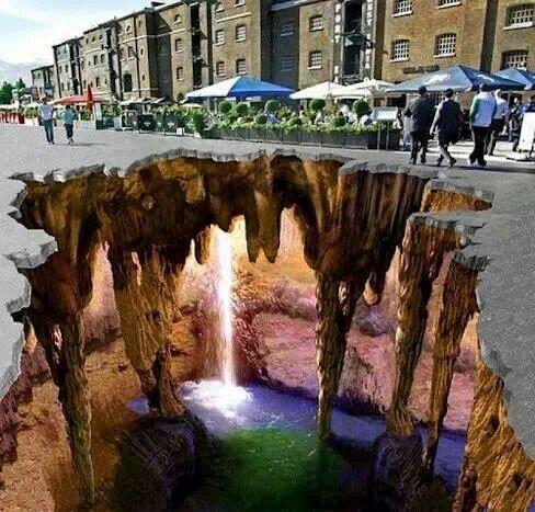 3D art west dock, England