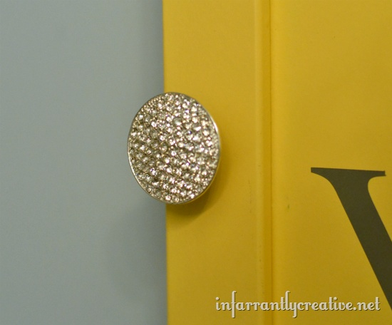 Upcycled Jewelry {Pendant to Furniture Knob}