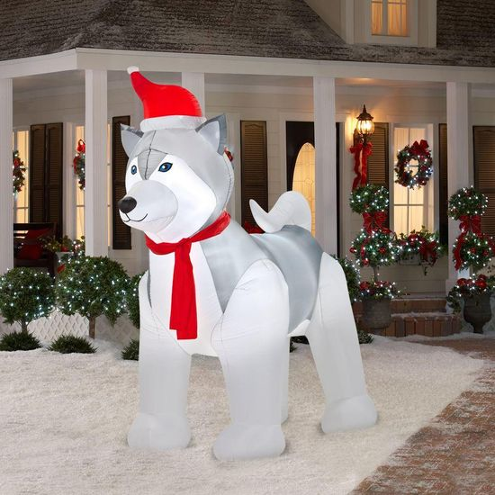 9 ft. Airblown Lighted Husky-89318 at The Home Depot