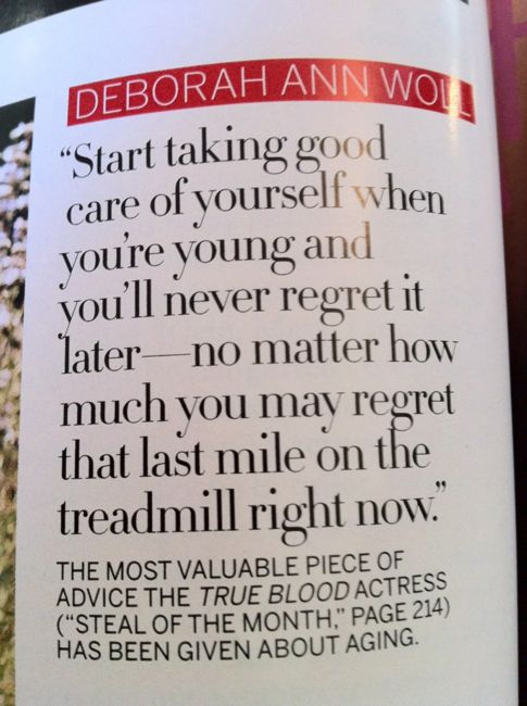 Start taking good care of yourself when you're young and you'll never regret it later