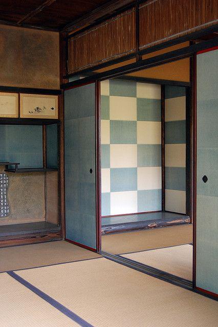 Inside the Shokin-tei, Kyoto, Japan