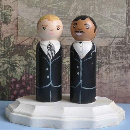 same-sex wedding cake topper