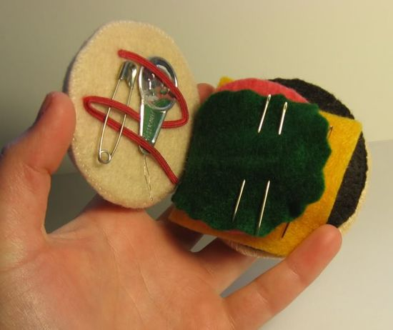 @Courtney Baker Handermann - hamburger sewing kit!