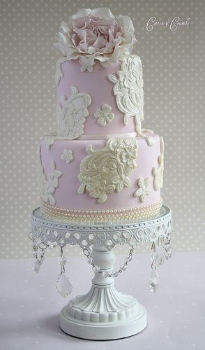 #Lace #Cake (by Cotton and Crumbs)