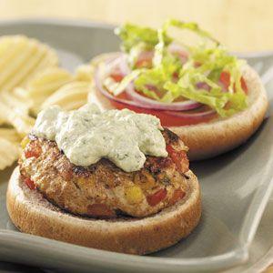 Turkey Burgers with Avocado Sauce Recipe