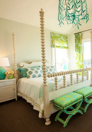 Turquoise Bedroom Details. great for a guest room