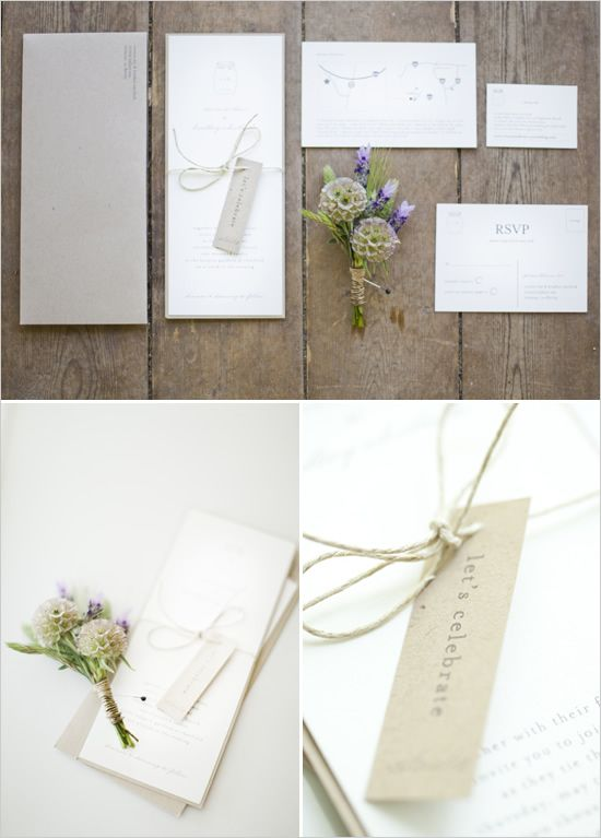white wedding invites
