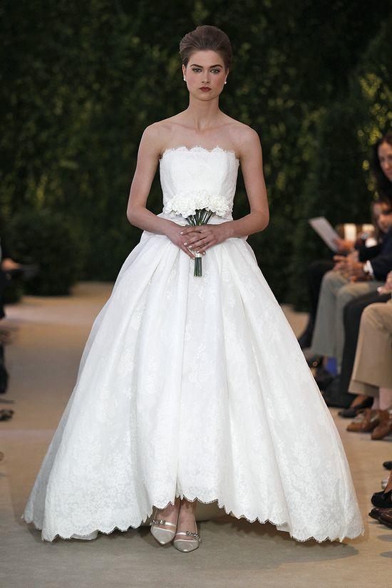 Carolina Herrera's take on a modern wedding ballgown. Gorgeous!