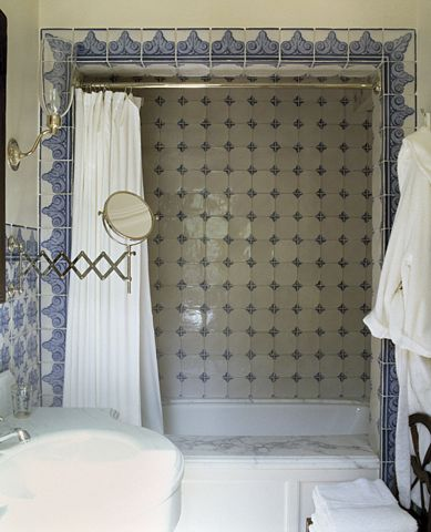 Spanish Colonial bath suite...