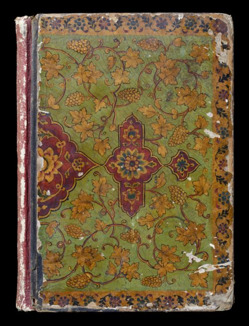 Lacquered cover of a scrapbook, possibly Persian, nineteenth century, at Sissinghurst.* ©NTPL/John Hammond