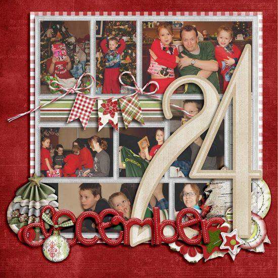 scrapbook Christmas layout