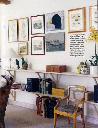 artwork leveled + bookshelves