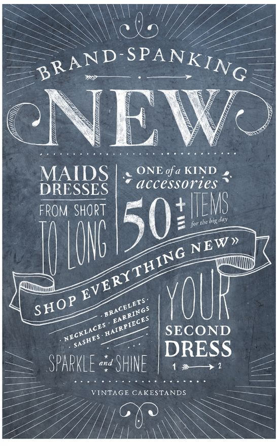 Awesome vintage chalk typography