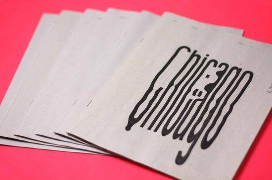 Graphic Design Inspiration – Chicago typography zine