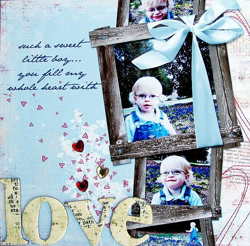 Scrapbook ideas I like this setting. I would change the pictures though!
