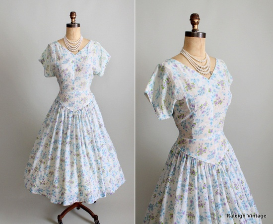 Vintage early 1950s dress.  #vintage #dress #1950s