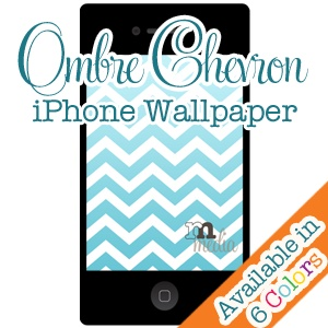 FREE Ombre Chevron Wallpaper for iPhone (all versions)