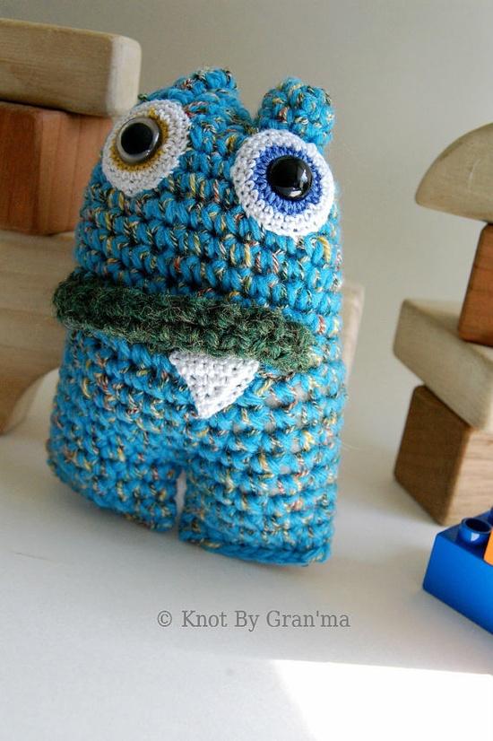 """Water Lily Mini Monster OOAK Crocheted Amigurumi by knotbygranma, #hvnyteam"" #Amigurumi  #crochet"