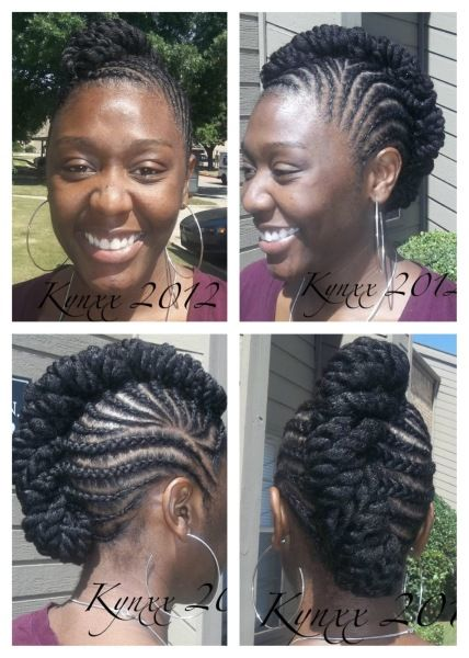 Protective Style Updo...no extensions.   love this  #naturalhair
