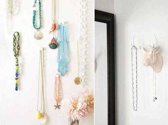 Que tal deixar seus colares a vista? Veja como: www.casadevalenti... #decor #decoracao #moda #fashion #diy #casadevalentina