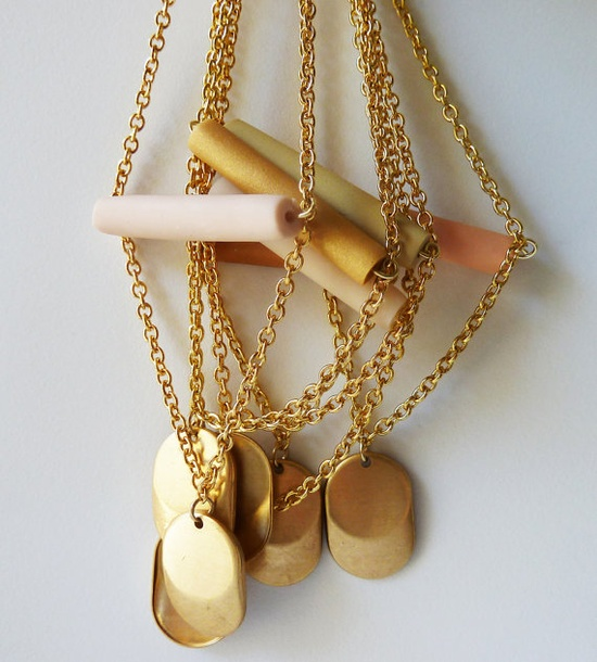 new pendant necklaces #jewelry #amerrymishap #etsy #handmade #necklace #pendant #brass #gold