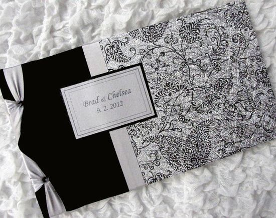 Wedding Guest Book / Photo Album Black and Silver by Daisyblu, $50.00
