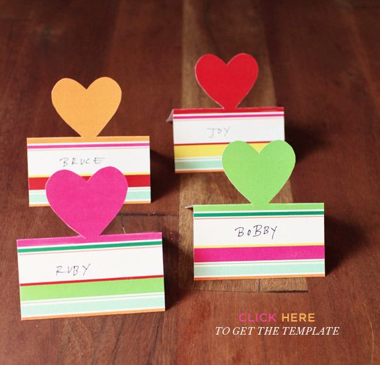 DIY::  Pop-Up Placecards