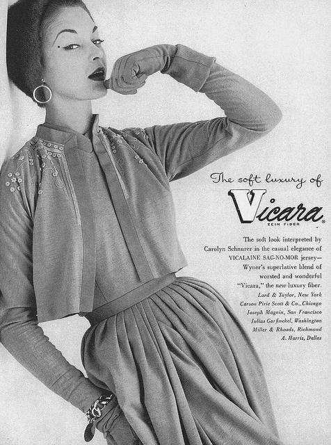 The soft luxury of Vicara. #ad #vintage #fashion #1950s