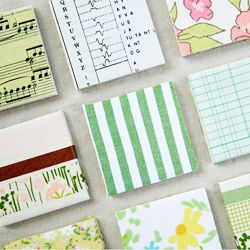 Loads of lovely handmade items by the creative place, including these DIY tile magnets.